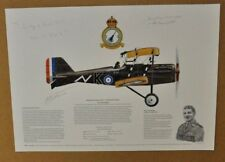 Limited print RA Factory S.E.5.asigned by pilot Gwilym Lewis & James Cross  RARE