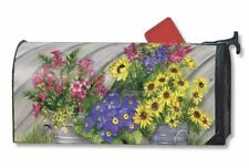 Mailwraps Blossom Buckets Mailbox Cover Magnetic USA Made Fade Resistant