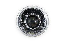 "7"" Round Diamond-Cut Projector Headlight V2 Model (LHD, Chrome)"