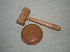SMALL OAK GAVEL AND BLOCK TRADITIONAL POCKET PALM GAVEL AUCTIONEER BEST MAN