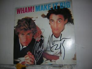 Wham Signed LP Make It Big By 2 Musicians George Michael Andrew Ridgeley