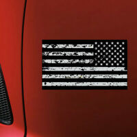 Black Grunge Distressed OPS American Flag Sticker Subdued USA Car Vehicle Decal