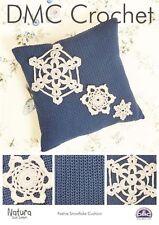 Crochet Pattern DM Christmas Cushion Snowflakes 6 For1 Post