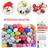 36/50Colors Wool Felt Needle Felt Tool Set DIY Felting Mat Starter Craft Tools
