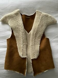 """Sass & Bide """"The Noble One"""" Lambskin Shearling Leather Vest Jacket Sz S/M"""