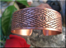 Solid Copper Ladies 7 Inch Cuff Bracelet #1001C2. 3/4 of an inch wide.