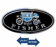 "All GM models Sill Scuff Plate Emblem Decal "" Body by Fisher "" CADC6769-1"