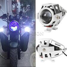 125W CREE U7 LED Motorcycle Spot Light Driving Headlight Dual Halo Brightness