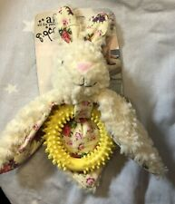 All for Paws AFP Shabby Chic Ballerina Rabbit Ring Plush Squeaky Dog Puppy Toy