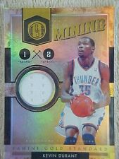 KEVIN DURANT 2010-11 GOLD STANDARD GOLD MINING JERSEY CARD  #19 036/299