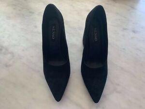 Senso Black Suede Heels - Size 39. Excellent Condition.RRP $249