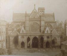 Photographie Papier salé Attr.CHARLES NÈGRE Paris Saint Germain L'Auxerrois 1852