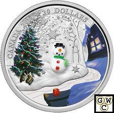 2014 'Snowman (Murano Glass)' Proof $20 Silver Coin 1oz .9999 Fine (14089) (NT)