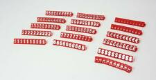 PRICE CUBE KIT for SHOP DISPLAY 540 Cubes Silver on Red Finish number tags
