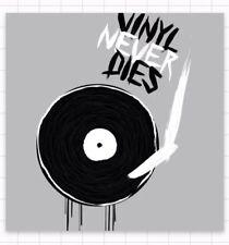 "Vinyl Never Dies Record LP Old School Music Rock Punk Cool 2"" Vinyl Band Sticker"