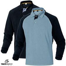 Delta Plus Panoply Turino Mens 100% Cotton Long Sleeve Polo Shirt T-Shirt Top