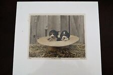 Randall Persing Two Pups in a Hat LE Print Signed Titled & numbered 15/300