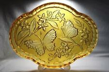 Art Glass Inventive Vintage 1930s Yellow Amber Maybe Bagley Bagley/sowerby/davidson Art Deco Frosted Clear Glass Bowl