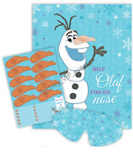 GAME STICK THE NOSE ON OLAF DISNEY FROZEN PARTY STICKERS BLINDFOLD KIDS BIRTHDAY