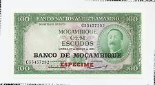 1961 Banco Nacional Ultramarino - Mocambique Cem Escudos - Especime