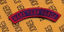 """US Army MARS TASK FORCE Airborne Ranger 3"""" tab arc patch reversed"""
