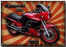 Kawasaki Gpz 900R Motocicleta acabado de alto brillo Letrero De Metal, Retro, Jp Super Bike.