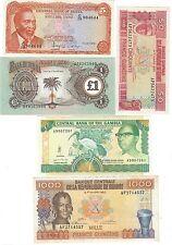 Gambie Kenya Biafra Guinée lot 5 billets / Gambia Guinea & Africa set 5 notes