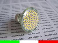 60 LED FARETTO DICROICA 120° GU10 BIANCO CALDO 3,5w 220v LAMPADINE LUCI