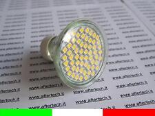 10x 60 LED FARETTO DICROICA 120° GU10 BIANCO CALDO 3,5w 220v LAMPADINE LUCI