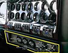 Kenworth W900 T800 C500 2006+ Stainless Steel A/C Gauge Dash Panel Trim