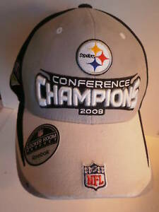 Pittsburgh Steelers Super Bowl 43 Conference Champions Hat Reebok NFL One Size