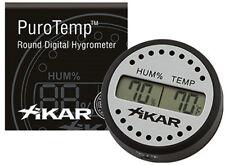 XIKAR Digital Cigar Humidor Hygrometer Thermometer Round Black PuroTemp 832X1