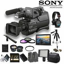 Sony HXR-MC2500 AVCHD Camcorder + Sony Headphones Combo