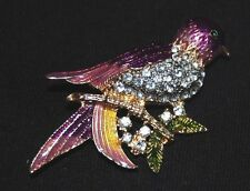 Fashion Bird Brooch Vintage Pin - 2 inches