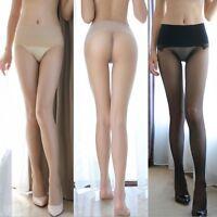 Women's High Waist Seamless Pantyhose Sheer Stockings Tights See Through Hosiery