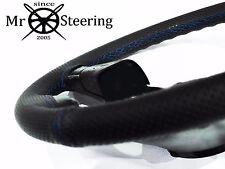 Para Mercedes W202 93-00 Cubierta del Volante Cuero Perforado Azul STCH doble