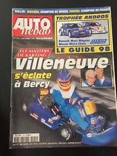 MAGAZINE AUTO HEBDO N°1114 03/12/1997 ELF MASTER BERCY KART VILLENEUVE F1 ANDROS