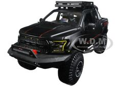 Box Damaged 2017 FORD F-150 RAPTOR PICKUP MATT BLACK OFF ROAD 1/24 MAISTO 32521