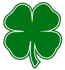 4 Leaf Clover Vinyl Decal, Bumper Sticker, Lucky, Shamrock, Irish, Four, Window