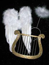 Flügel Harfe Heiligenschein Engelsflügel SET Engel Christkind Weihnachten Kostüm