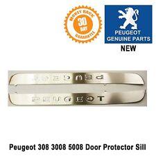 Peugeot 3008 408 5008 Door Sill Protector Surround Kick Plate Pair Genuine New