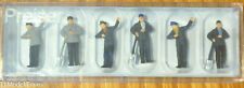 Preiser HO #14014 Railroad Personnel -- Steam Engine Crew (Painted Figures)