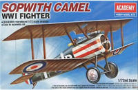 MODEL AIRCRAFT ACADEMY SOPWITH CAMEL WWI Fighter 1:72 SCALE NEW