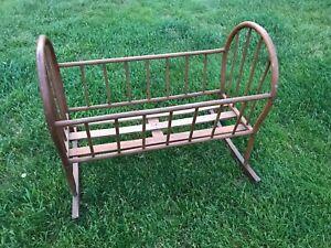 """35"""" Vintage Wooden Rocking Cradle"""