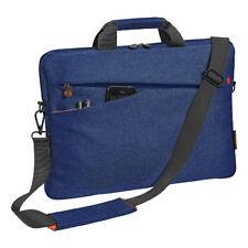 Notebooktasche 17,3 Zoll Laptoptasche mit Zubehörfächer, Schultergurt, blau