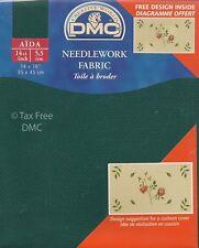 "VAT Free DMC 14 Count Ct Cross Stitch Aida Fabric 500 Green 14"" x 18""  New"