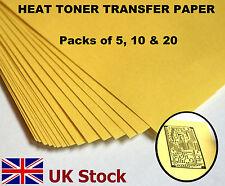 A4 Heat Toner Transfer Paper, Laser Printer, for DIY PCB Prototyping - UK Stock