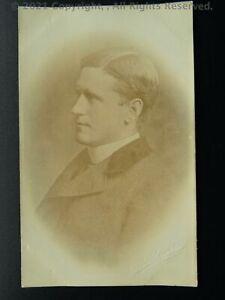 Portrait OSWALDKIRK The Rev J.W.S. Bennett VICAR of OSWALDKIRK c1912 RP Postcard