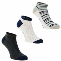 Mens Firetrap 3pk T Liner Trainer Socks New