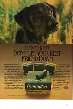 Original 1985 Remington Shotgun Shells Magazine Ad - Don't Let Your Best Friend